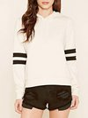Hooded Loose Casual Striped Polyester Sweatshirts (Style V100591)