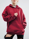 Hooded Standard Loose Cotton Pockets Sweatshirts (Style V100690)
