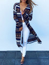 Slim Fashion Striped Polyester Pattern Sweater (Style V100913)
