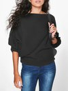 Standard Loose Casual Plain Polyester Sweater (Style V100951)
