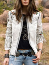 Short Straight Personality Letter Fauxfur Jacket (Style V101238)