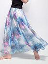 A-line Boho Pattern Chiffon Floral Skirt (Style V101745)