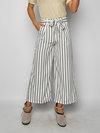 Ankle Length Loose Elegant Belt Polyester Pants (Style V102213)