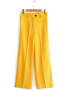 Ankle Length Loose Office Polyester Plain Pants (Style V102218)