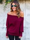 Standard Loose Plain Sweater (Style V200194)