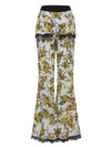 Maxi Slim Pattern Floral Casual Pants (Style V200208)