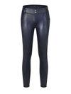 Fashion Button Pu Leather Plain Leggings (Style V201179)