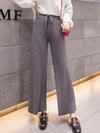 Ankle Length Loose Elegant Strappy Knitted Pants (Style V201817)