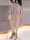 Mini A-line Date Night Knitted Plain Skirt (Style V201866)