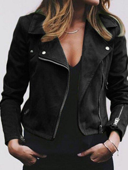 Shawl Collar Short Slim Date Night Plain Jacket (Style V101177)