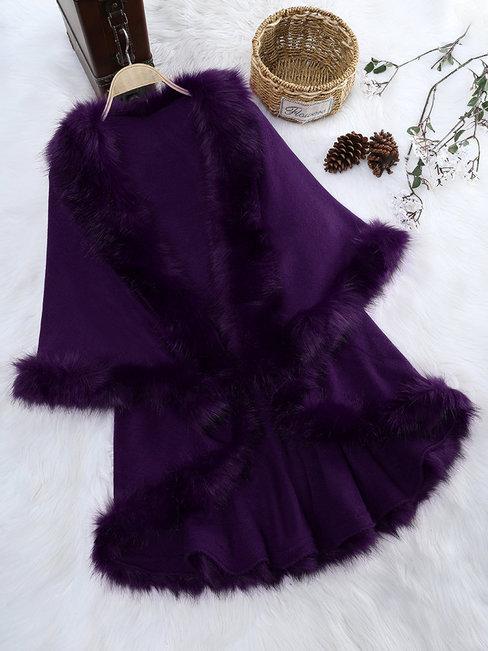 Long Loose Date Night Plain Stringy Selvedge Coat (Style V101562)