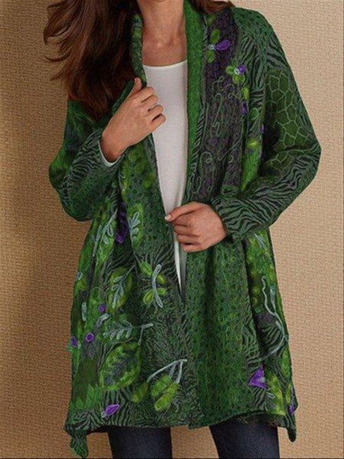 Midi Date Night Floral Cotton Pattern Coat (Style V102561)