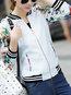 Short Straight Date Night Patchwork Polyester Jacket (Style V101307)