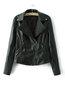 Shawl Collar Short Straight Plain Asymmetrical Jacket (Style V101322)