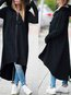 Hooded Long Fashion Plain Pockets Coat (Style V101371)