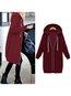 Hooded Loose Fashion Cotton Pockets Coat (Style V101492)