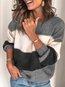 Round Neck Short Striped Dacron Pattern Sweater (Style V102458)
